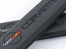 Car Seat Belt Shoulder Pads fits Chevrolet Corvette C4 Black Leather Embroidery