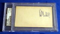 CARL HUBBELL SIGNED INDEX CARD ~ PSA/DNA
