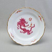 Meissen große Platte Teller Mingdrache / Drache in purpur,  30,5 cm, Knaufzeit