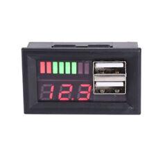 Batteriekapazität Meter Anzeige Bleisäure USB Ladegerät 12V