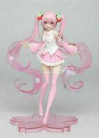 Action Cherry Figure Sakura Toy Pink Figurines Hatsune Miku Dress Vocal Idol