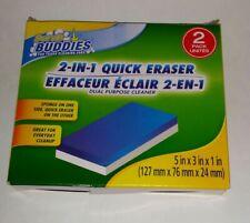 SCRUB BUDDIES(2PK)TWO in ONE DUAL QUICK ERASER SPONGE PURPOSE CLEANER- REUSABLE!