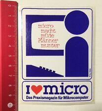 Aufkleber/Sticker: I Love Micro - Praxismagazin Für Mikrocomputer (220416195)