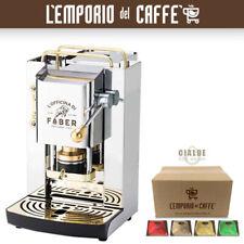 Macchina da Caffe a Cialda Faber Pro Series Deluxe Inox e Ottone + 50 Cialde