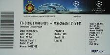 TICKET UEFA CL 2016/17 Steaua Bukarest - Manchester City