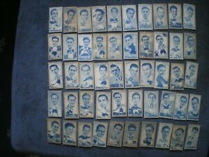FAMOUS FOOTBALLERS, TURF CIGARETTE CARDS, FULL SET OF 50 CARDS