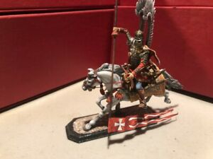 Russian produced metal 1/32nd scale Polish Winged Hussar charging w/lance