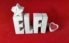 Beton, Steinguss Buchstaben 3D Deko Namen ELFI als Geschenk verpackt!