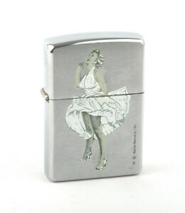 Prototype Zippo 2002 Marilyn Monroe & Zippo Car Lighter (Brushed Chrome)