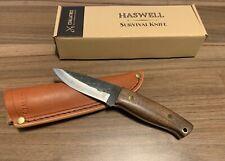 NEW Haswell Survival Bushcraft Knife Coalatree Handmade with Leather Sheath