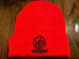 Orange Knit Embroidered Weatherby hat  New!  Worldwide ship-Birthday