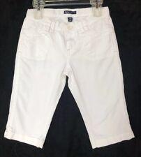 Girl's Size 8 Gap Kids White Pedal Pushers Capri Jeans Cotton/Spandex Pockets