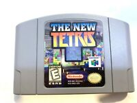 The New Tetris - Nintendo 6 N64 Video Game TESTED + WORKING & AUTHENTIC!!