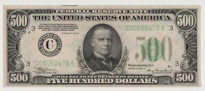 $500 Federal Reserve Note 1934A  Philadelphia Five Hundred