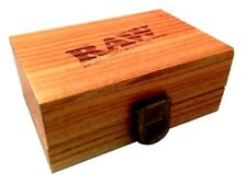 Raw Rolling Smoking Tobacco Snuff Wooden Box Smokers Gift Set Tray Stash Papers