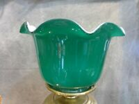 Emerald Green Gas Shade Oil or Table Lamp Shade Globe Fixture