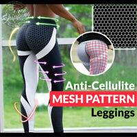 Anti-Cellulite Mesh Pattern Leggings New L8E9
