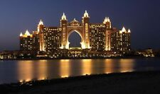 "Atlantis Palm Hotel Dubai At Night United Arab Emirates Dubai Poster 18'' X 10"""