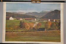 Schulwandkarte Rollkarte Lehrtafel Allgäuer Bauernhöfe bei Oberstaufen