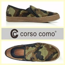 Corso Como $125 'Duffy' camouflage calf hair slip-on fashion sneakers~8