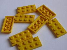 Lego 8 plates jaunes set 4110 7891 8037 / 8 yellow plates