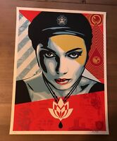 Shepard Fairey Obey Giant LOTUS WOMAN  Signed #'d Screen Print