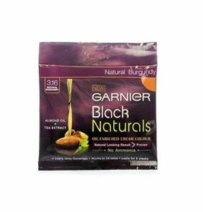(20ml+20g) Garnier Black Naturals 3.16 Natural Burgundy Cream Hair Color