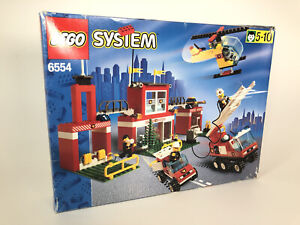 Lego System Town Blaze Brigade Fire Station 6554 (1997) Pre-Owned