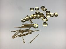 50 Piece Brass Hand Washers 1/8� Square Hole and Tapered Pins for Clocks Repair