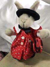 Muffy Vanderbear Hoppy Back To School Red Jacket, Black Beret, Purse, Shoes