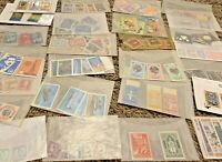 MINT WW STAMPS IN GLASSINES LOT. SHORT SETS, OVERPRINTS, MICKEY MOUSE. NO U.S.