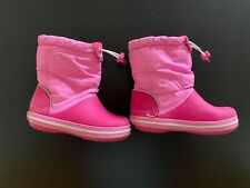 Crocs Kids' Crocband LodgePoint Pull-On Boot Toddler Girl`s Shoes US Size 9