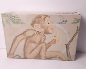 Vintage Tuco Puzzle Miniature Monkey w/Banana 30 Large Tripl-Thick Pieces