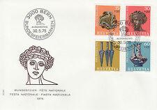 Schweiz  FDC Ersttagsbrief 1975 Archäologische Funde Mi. 1053-56