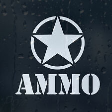 Cinco estrellas del ejército de munición infinita Marine Coche Decal Pegatina De Vinilo Para Ventana O Parachoques
