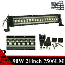 21inch 90W LED Light Bar Flashing Strobe 4 Wires Off road Truck 4x4WD TOP Ranger