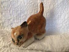 Mann Tabby Cat Kitty Tabby Brown White Orange Figurine