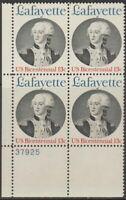 Scott# 1716 - 1977 Commemoratives - 13 cents Marquis de Lafayette Plate Block
