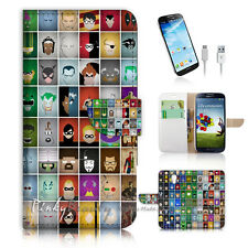 ( For Samsung S4 ) Wallet Case Cover! Hero Collection P1504