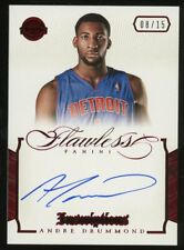 2012-13 Panini Flawless Ruby Inscriptions Andre Drummond AUTO 8/15 Pistons