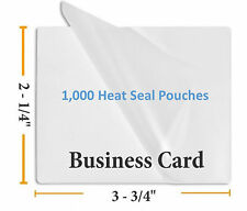 """Premium 5 Mil Business Card Size Heat Seal Laminating Pouches 1000 2.25"""" x 3.75"""""""
