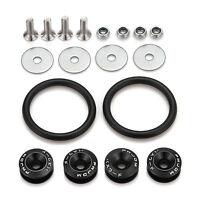 Black JDM CNC Quick Release Fastener For Car Bumpers Trunk Fender Hatch Lids Kit