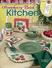 Strawberry Patch Kitchen Set ~ 10 Accessories plastic canvas pattern booklet NEW