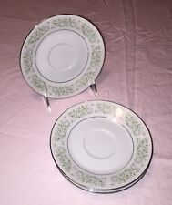 """Taihei Fine China Set of Four 6"""" Saucers Made in Japan, EXC COND!"""