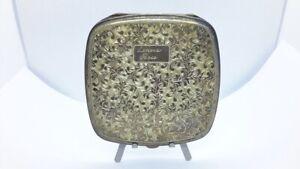 Vintage Sterling Silver Ladies Powder Compact w Beautiful Etching. Lenora Rose