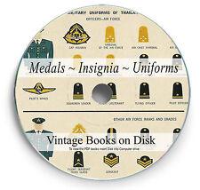 Books Medal Uniforms Insignia on DVD Badge Ribbon World War 1 2 WW1 WW2 Army 289