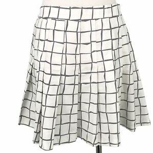 VINTAGE Tail Skirt Womens 10 White Pleated Tennis Golf Elastic Button Zip USA