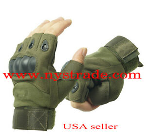 Tactical Gloves Hard Knuckles for Hunting Shooting Cycling Hiking Motorcycling