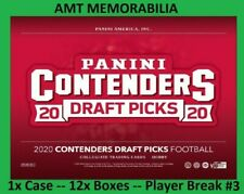 Zack Moss Utah Utes 2020 Panini Contenders Draft 1X CASE 12x BOX BREAK #3