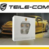 NEU+ORIG. Porsche Ventilkappen Silber/Wappen farbig, Satz für RDK-Sensoren